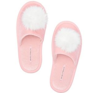 Victoria's Secret Pom Pom Slippers